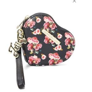 Juicy couture varsity bloom coin case wristlet